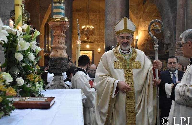 Патриарх Пиццабалла посетил католиков в Газе