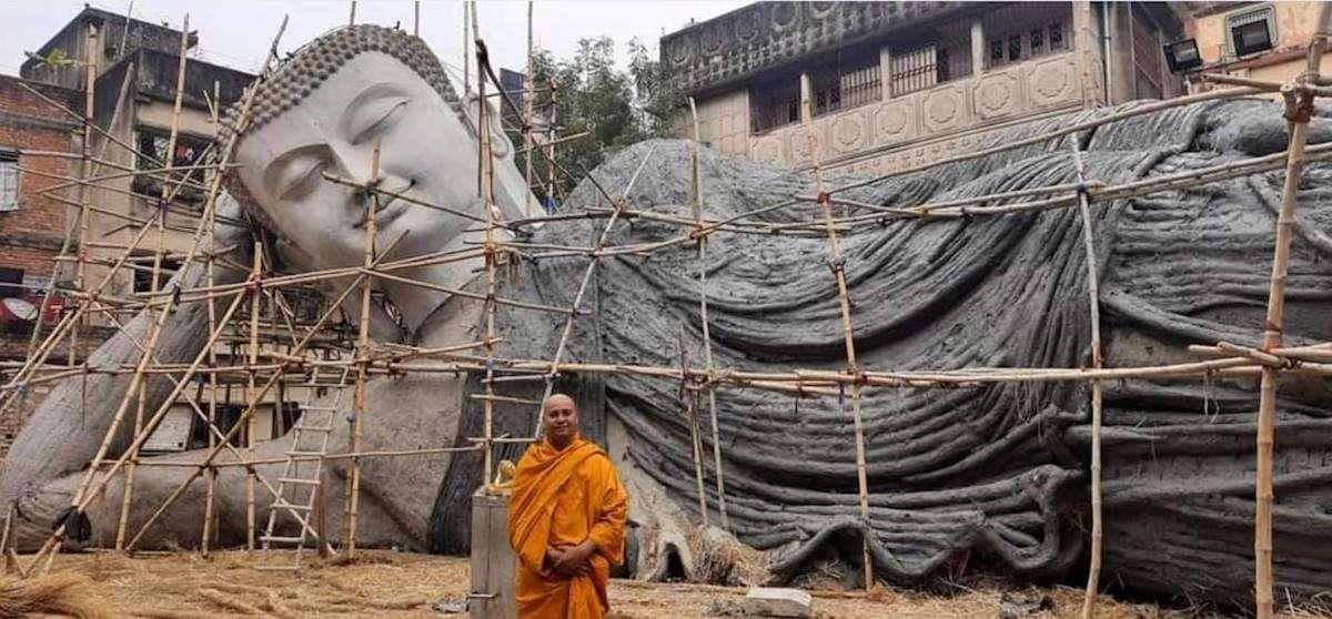 Самая большая в Индии статуя лежащего Будды будет установлена в Бодх-Гая