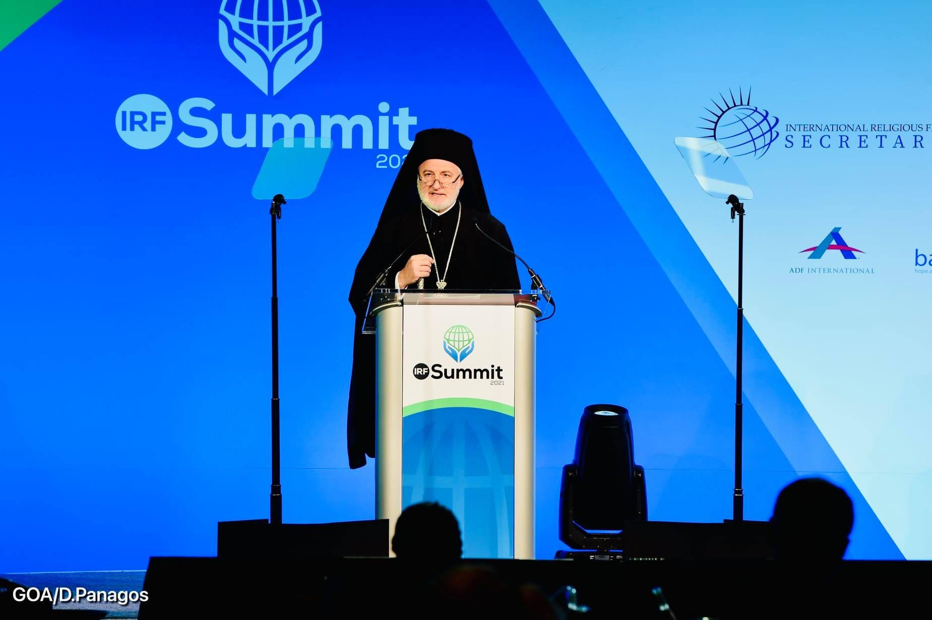 """Речь архиеп. Элпидофора на Саммите по вопросам религиозной свободы: """"Восходящая волна религиозного национализма"""""""