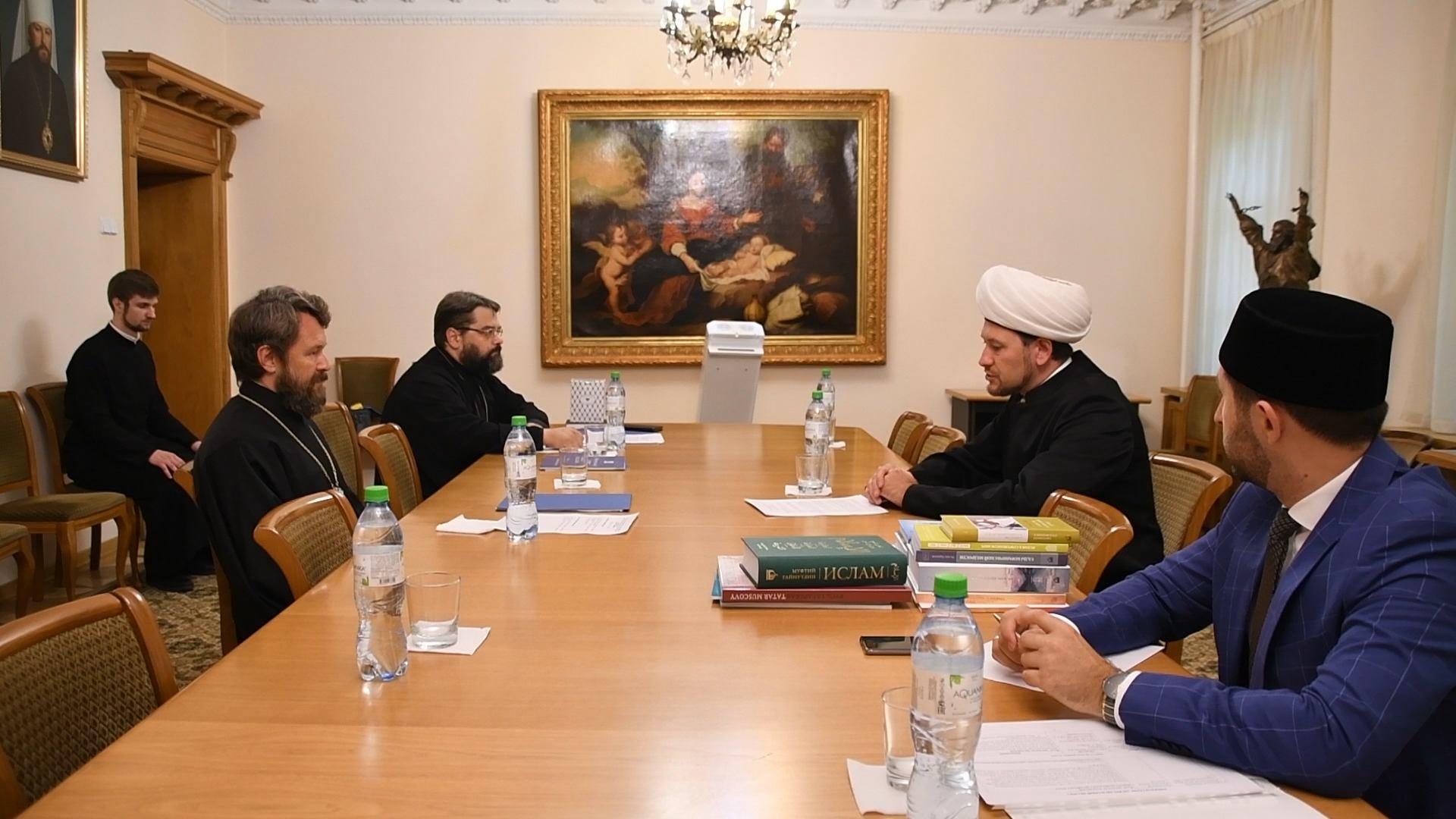 Мусульманская делегация встретилась с митрополитом Иларионом